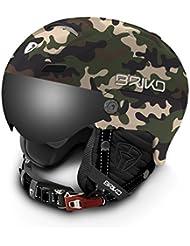 Briko Stromboli Visor 2V, casco de esquí unisex adulto, Unisex adulto, Stromboli Visor 2V, A65Matt/Army/Camo