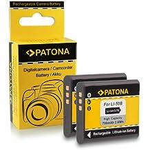 2x Batterie Olympus Li-50B | Ricoh DB-100 | Pentax D-LI92 pour Ricoh WG-4 | WG-20 | WG-30 | CX4 | PX | Pentax X70 | WG-3 | WG-10 | Optio I-10 | Olympus D-750 | D-760 | Olympus mju 1010 | 1020 | 5010