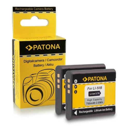 2x Batteria Olympus Li-50B | Ricoh DB-100 | Pentax D-LI92 per Ricoh WG-4 | WG-20 | WG-30 | CX4 | PX | Pentax X70 | WG-3 | WG-10 | Optio I-10 | Olympus D-750 | D-760 | Olympus mju 1010 | 1020 | 5010