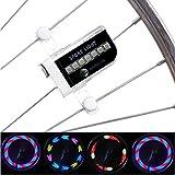 OUTAD Wasserdicht 14-LED Fahrrad Felge Lichter mit 30 Farbmuster, Fahrradlichter Blinker Spoke Beleuchtung Lampe Nachtlicht für MTB Rad Gummireifen