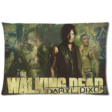 New Unique Daryl Dixon TV Series Walking Dead Pillowcase Custom Zip Throw Pillow Case Cover (Standard 20*30inch)
