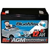 BlueMax KidsCar AGM GEL Bleiakku - 6 V/12 Ah Bleigel Akku Gelakku Elektroauto
