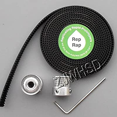 2 x GT2 20T 5mm Bore Pulleys + 6 Feet Timing Belt Set for 3D printer RepRap Ultimaker (s5) [HRUS]