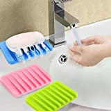Seifenschale, Seifenschale Dusche, selbstleerende Seifenhalter, Silikon Dusche Seifenablage 2 Stücke