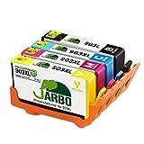 JARBO 903L 903XL Sostituzione per Cartucce HP 903 L 903 XL Alta Capacità Compatibili con HP Officejet 6950, HP Officejet Pro 6960 6970, Confezione da 4 (1 Nero,1 Ciano,1 Magenta,1 Giallo)