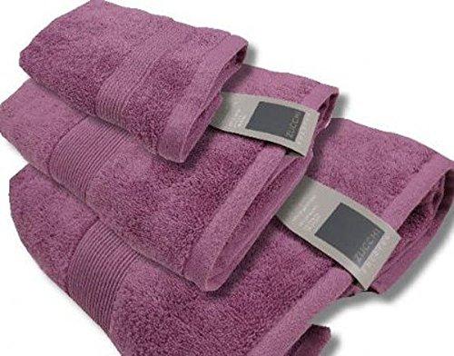 Set 1+1 zucchi solotuo asciugamani medio+ospite spugna di cotone 560 gr/mq n140 tramonto