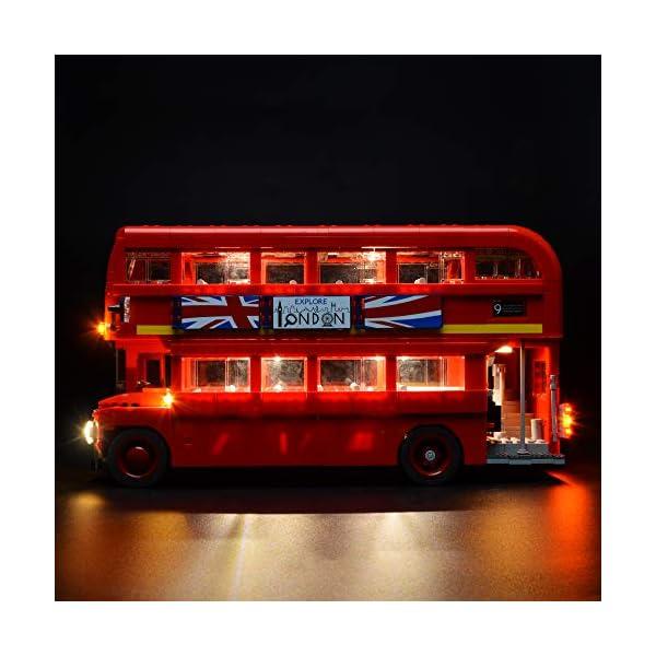 BRIKSMAX Kit di Illuminazione a LED per London Bus, Compatibile con Il Modello Lego 10258 Mattoncini da Costruzioni… 5 spesavip