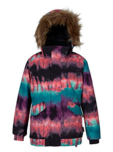 Burton Mädchen Whiply Bomber Jacket Snowboardjacke, Gigit Surf Stripe, L