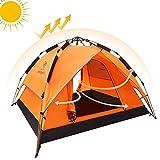 CAMEL Automatische Zelt-hydraulische Wölbungs-Zelt-Überdachung für kampierende Automatische Wasserdichte hydraulische Zelte 2-3 Person (Orange)