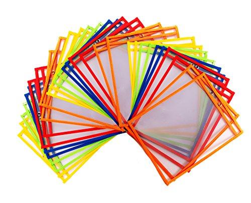 30Dry Erase Taschen, Bunte Oversize 10x 13Taschen, Perfekt für Klassenzimmer Organisation, Wiederverwendbar Dry Erase Taschen, LEHRE, Arztausstattung, 30Stück ()
