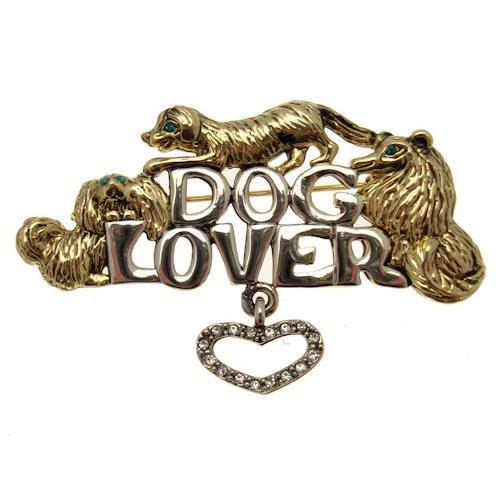 Acosta Brooches oro & argento anticato, motivo