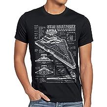 A.N.T. Star Destroyer T-shirt da uomo cianografia camminatore