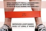 4FitU Resistance Loop Bands-Extra Wide and Extra Long Stretch Bands-Fitness Bands. Set of 4 (Light, Medium, Heavy,Extra Heavy). Great Exercise for Men and Women. Best for Yoga and Pilates Workout. Good for Strengthening Training. Rehabilitation,Physiotherapy Aid.100% Natural Latex. Medium to Heavy Resistance Set.