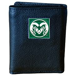 Colorado St. Rams Genuine Leather Tri-fold Wallet