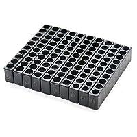 "GEZICHTA 10pcs 10 Holes   12 Holes Hex Shank Screwdriver Bit Holder Plastic Screwdriver Head Storage Case, 1/4""(10 holes)"