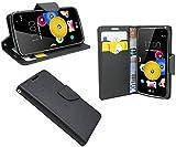LG K4 // Buchtasche Hülle Case Tasche Wallet BookStyle mit