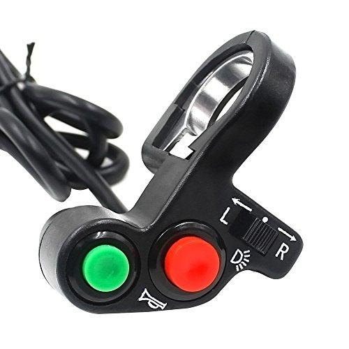 Zantec Motorrad Fahrrad Lenkerhalterung Schalter Taste 3 in 1 Design (für LED Scheinwerfer, Lautsprecher, Blinker)
