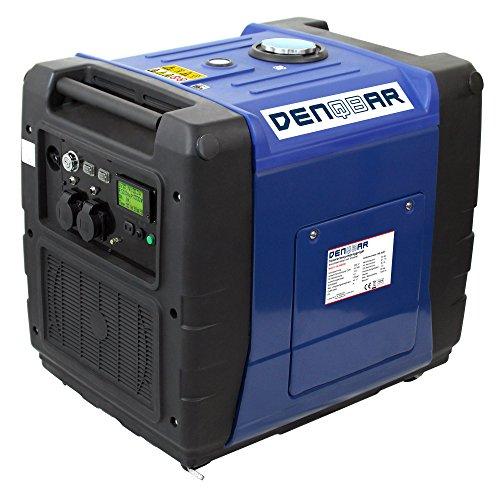 DENQBAR 5,6 kW Inverter Stromerzeuger Notstromaggregat Stromaggregat Digitaler Generator benzinbetrieben DQ5600ER mit E-Start und Funk Digital Inverter Generator