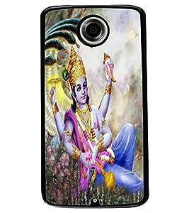 ColourCraft Lord Vishnu Design Back Case Cover for MOTOROLA GOOGLE NEXUS 6