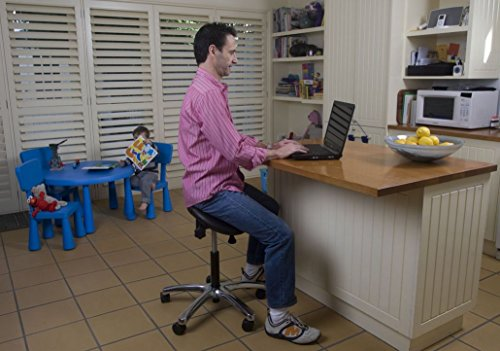 Fully Adjustable Saddle Stool – Ergonomic Stool Designed to Help Relieve Back Pain, Improve Posture and Blood Circulation – Ideal for dentists, doctors and for use in clinics, salons and offices