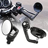 Autosun 7/8' 22cm Motorcycle Rear View Mirrors Handlebar Bar End Mirrors Universal (Universal Bike)