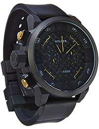 Welder K31-10000 - Reloj para hombres, correa de goma color negro