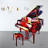 Kunst & Ambiente - Colours of Music - Ölbild mit Piano 80x80cm - Martin Klein - Musikbild - Piano Gemälde - Flügelbild - Wandbild - Wanddeko - Acrylgemälde auf Leinwand