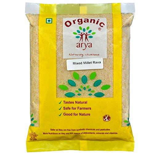 Arya Farm Mixed Millet Rava, 1 Kg (Siridhanya Rava/Foxtail / Kodo/Barnyard / Proso/Little Millet)