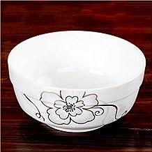 Liuyu Cocina Inicio Cuenco de sopa de hueso China Cuenco de sopa de 8 pulgadas Cuenco grande ( Color : B )