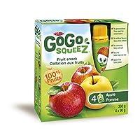 Mom Gogo Squeez Fruit Snack, Apple Manzana - 4 x 90 grams