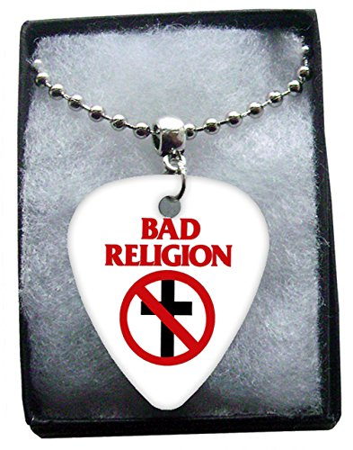 Bad Religion Metal Guitar Plektron Necklace Ball Chain Kette