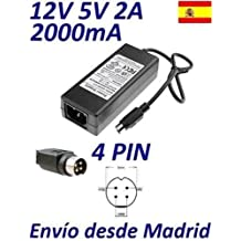 Cargador Corriente 12V 5V 2A 4 PIN Reemplazo Best Buy Easy Player HD Jumbo Plus MPEG4 Player With Card Reader Recambio Replacement