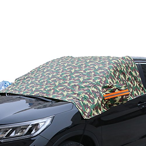 Zhhaijq Auto-Windschutzscheiben-Abdeckung winddicht staubdicht Außenwindschutzscheibe Schnee, Eis, Sun Fall Car Protect Cover