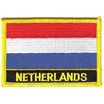 Flaggen Aufnäher Patch Niederlande / Holland Schrift