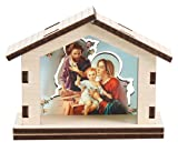 """Natale presepe di Natale in miniatura in legno Shed 3cifre laser Cut Gift Xmas Natività legno scena natalizia. 21/2"""" alta"""