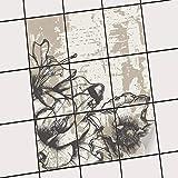 creatisto Fliesentattoo Dekosticker | Fliesen-Aufkleber Folie Sticker Selbstklebend Küche renovieren Bad Küchen Ideen | 20x25 cm Muster Ornament Styleful Vintage 1-9 Stück