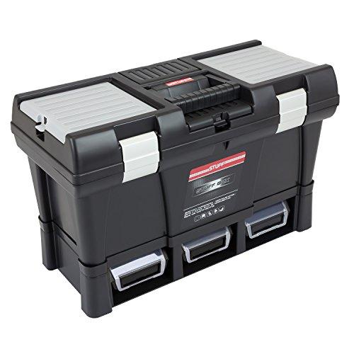Preisvergleich Produktbild Patrol Group SKR20SPSMSALCZAPG001 Werkzeugkoffer Werkzeugkasten Toolbox Stuff Module System 525x256x325 mm Alu-Verschlüsse Sichtlagerkästen Werkzeugträger, schwarz