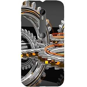 Casotec Engineering Wheel Design Hard Back Case Cover for Motorola Moto G 3rd Generation