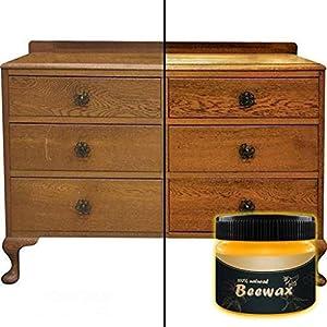 100% Natürliches Bienenwachs Bio Möbelwachs Antikwachs, Multifunktionale Möbelpflege Wachs für Holz Möbel Holztische…