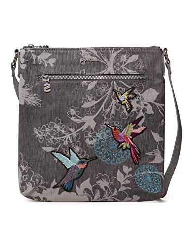 Desigual Bag Wallpaper Kaua Women - Borse a tracolla Donna, Grigio (Cemento), 4x28.5x26.2 cm (B x H T)