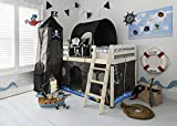 Cabin Bed with Slide Midsleeper Kids Pirate Hideaway with Tent, Tunnel, Tower & Tidy Noa & Nani