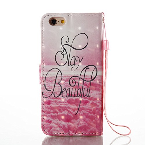 iPhone 6s Plus 5,5Zoll Glitzer Hülle,iPhone 6 Plus Leder Schutzhülle,TOYYM Bling Diamant Strass 3D Muster Design Folio PU Leder Wallet Full Body Protection Case mit Standfunktion Karteneinschub und Ma Beauty
