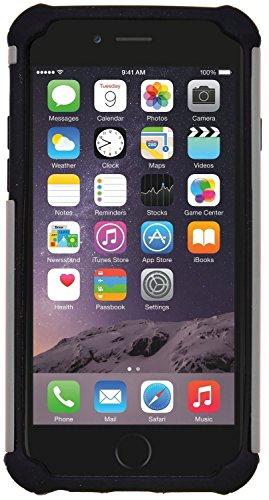 iPhone 6 / 6S Stoßfest Hülle Silikon GizzmoHeaven Schutzhülle Dünn Tasche Hybrid Armor Cover Case Etui Handyhülle für Apple iPhone 6 / 6S - Rosa Grau