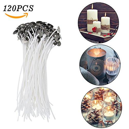 kerzendochte, Aodoor Flachdocht 120pcs kerzendochte für Kerzenherstellung 15 cm