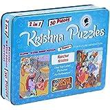 Krishna Puzzles| Ranchor Krishna | Jigsaw 2-in-1 Plastic| Waterproof Puzzles (Blue)