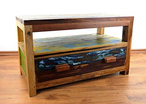 Java Sideboard aus Teakholz | TV-Bank aus Massivholz | Phonoschrank / HiFi-Möbel der Marke Asia Wohnstudio (Handarbeit)