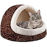Premium Katzenhöhle aus Plüsch Kuschel-Höhle für Katzen und Hunde Katzen-Haus