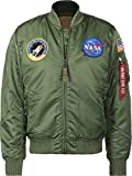 Alpha Industries MA-1 VF NASA Bomberjacke (L, sage-green)