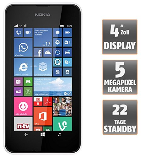 Image of Nokia Lumia 530 Smartphone (10,2 cm (4 Zoll), Single-SIM, 1,2GHz Snapdragon Quad-Core Prozessor, 512MB RAM, 5 Megapixel Kamera, Bluetooth, USB 2.0, Win 8) dark grey