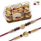 #2: Maalpani Rakhi Chocolate Hamper - Set of 02 Rakhi and Ferrero Rocher